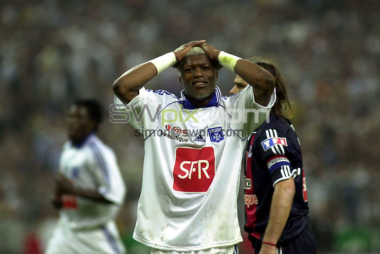 Pix: Dave Winter/SWpix.com.... Football. French League Soccer. Transfer targets. 04/06/2003...COPYRIGHT PICTURE>>SIMON WILKINSON>>01943 436649>>..Transfer target for English Premier League clubs, Djibril Cisse..