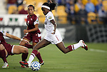 02 December 2011: Stanford's Chioma Ubogagu scores the game's first goal. The Stanford University Cardinal played the Florida State University Seminoles at KSU Soccer Stadium in Kennesaw, Georgia in an NCAA Division I Women's Soccer College Cup semifinal game.