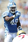01 September 2012: UNC's Kevin Reddick. The University of North Carolina Tar Heels played the Elon University Phoenix at Kenan Memorial Stadium in Chapel Hill, North Carolina in a 2012 NCAA Division I Football game. UNC won the game 62-0.