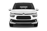 Car photography straight front view of a 2016 Citroen Grand-C4-Picasso Shine 5 Door Mini MPV Front View