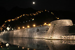 Kotor external wall view by night