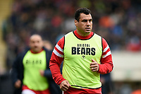 George Smith of Bristol Bears looks on from the sidelines. Gallagher Premiership match, between Leicester Tigers and Bristol Bears on April 27, 2019 at Welford Road in Leicester, England. Photo by: Patrick Khachfe / JMP