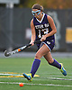 Oyster Bay No. 13 Kiera Scongnamiglio looks to gain possession during the Nassau County varsity field hockey Class C final against Carle Place at Adelphi University on Sunday, November 1, 2015. Carle Place won by a score of 5-0.<br /> <br /> James Escher
