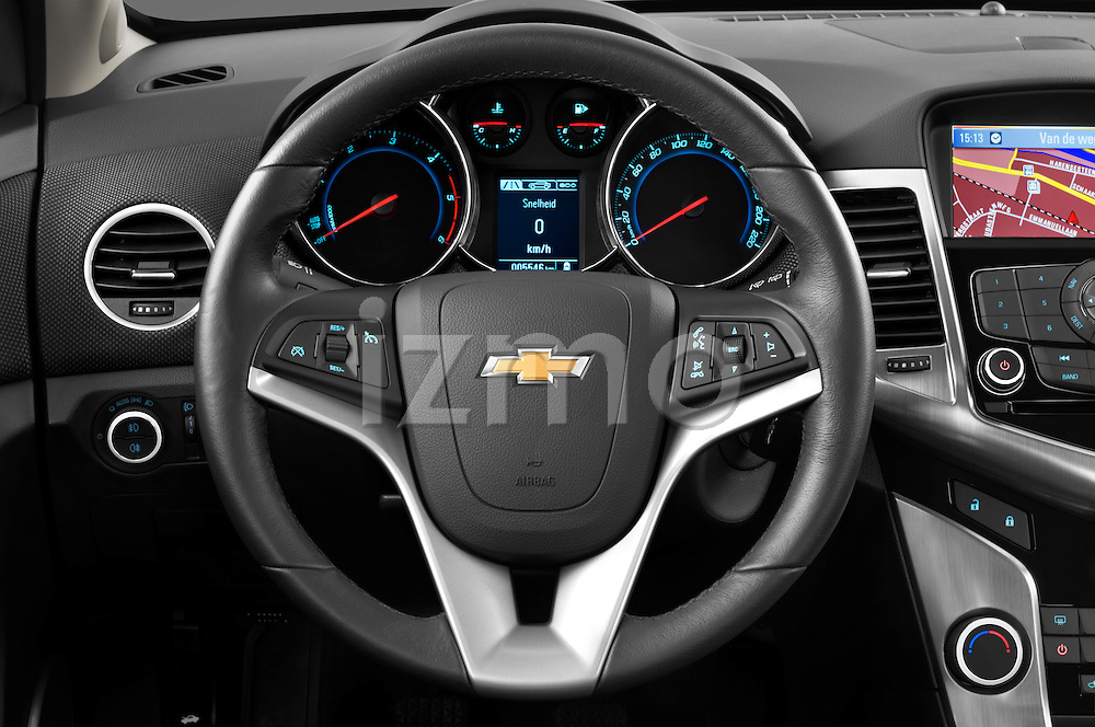 2013 Chevrolet Cruze SW LTZ wagon Steering wheel Stock Photo