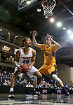 SIOUX FALLS, SD - MARCH 8:  Nic Williams #20 from Indiana Tech looks at the basket while being guarded by Michael Scott #31 from West Virginia University Tech at the 2018 NAIA DII Men's Basketball Championship at the Sanford Pentagon in Sioux Falls. (Photo by Dave Eggen/Inertia)