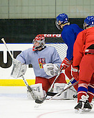 Filip Novotny (Czech Republic - 1), David Musil (Czech Republic - 6) - Team Czech Republic practiced at the Urban Plains Center in Fargo, North Dakota, on Saturday, April 18, 2009 in the morning prior to their final match against Sweden during the 2009 World Under 18 Championship.
