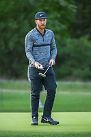 Kevin Chappell (USA) after sinking his putt on 14 during Round 1 of the Valero Texas Open, AT&amp;T Oaks Course, TPC San Antonio, San Antonio, Texas, USA. 4/19/2018.<br /> Picture: Golffile | Ken Murray<br /> <br /> <br /> All photo usage must carry mandatory copyright credit (&copy; Golffile | Ken Murray)