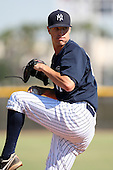 New York Yankees minor league pitcher Shane Greene (67) vs. the Pittsburgh Pirates in an Instructional League game at the New York Yankees Minor League Complex in Tampa, Florida;  October 8, 2010.  Photo By Mike Janes/Four Seam Images