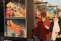 Europe/France/Provence-Alpes-Côte d'Azur/06/Alpes-Maritimes/Nice: Exposition de photos sur la promenade des Anglais devant le Palais de la Méditerrannée