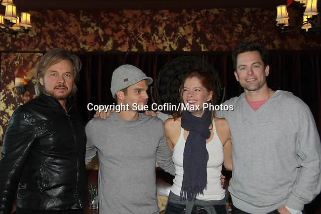"Drama Brunch - The Young & The Restless stars Stephen Nichols - Greg Rikaart - Michelle Stafford - Michael Muhney came for the fans with a brunch and photos during the Soap Opera Festivals Weekend - ""All About The Drama"" on March 25, 2012 at Bally's Atlantic City, Atlantic City, New Jersey.  (Photo by Sue Coflin/Max Photos)"