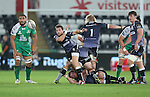 Ospreys scrum half Martin Roberts whips the ball away from the breakdown.<br /> Guiness Pro12<br /> Ospreys v Connacht<br /> Liberty Stadium<br /> 31.10.14<br /> &copy;Steve Pope-SPORTINGWALES