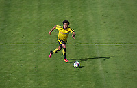 Ikechi Anya of Watford in action during the Pre Season Friendly match between Woking and Watford at the Kingfield Stadium, Woking, England on 10 July 2016. Photo by Andy Rowland.
