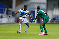 11th July 2020; The Kiyan Prince Foundation Stadium, London, England; English Championship Football, Queen Park Rangers versus Sheffield Wednesday; Olamide Shodipo of Queens Park Rangers being marked by Marc Pugh of Queens Park Rangers