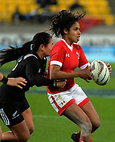 Magali Harvey in action during the 2017 International Women's Rugby Series rugby match between the NZ Black Ferns and Canada at Westpac Stadium in Wellington, New Zealand on Friday, 9 June 2017. Photo: Dave Lintott / lintottphoto.co.nz