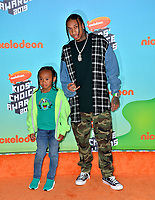 LOS ANGELES, CA. March 23, 2019: Tyga & King Cairo Stevenson at Nickelodeon's Kids' Choice Awards 2019 at USC's Galen Center.<br /> Picture: Paul Smith/Featureflash