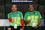 15 July 2015: Mexico assistants Jose Torruco (left) and Jose Rangel (right). The Mexico Men's National Team played the Trinidad & Tobago Men's National Team at Bank of America Stadium in Charlotte, NC in a 2015 CONCACAF Gold Cup Group C match. The game ended in a 4-4 tie.