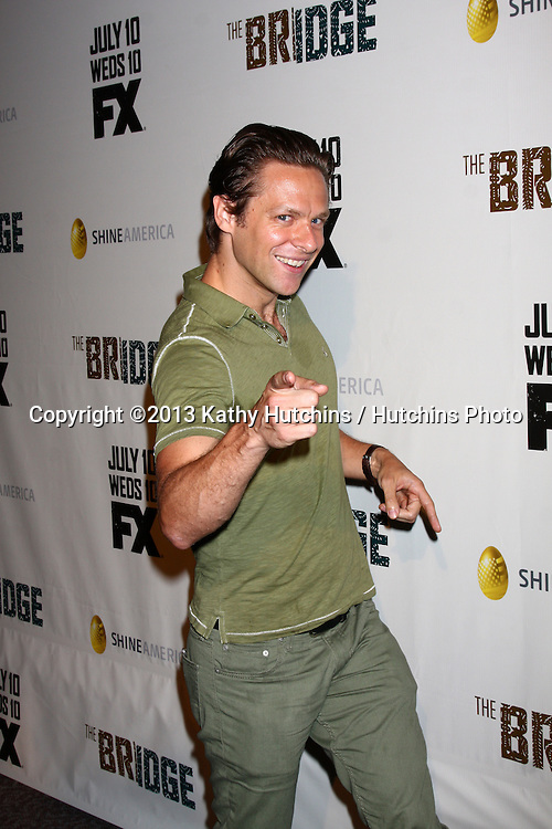 """LOS ANGELES - JUL 8:  Jacob Pitts arrives at """"The Bridge"""" FX Network Premiere Screening at the Directors Guild of America on July 8, 2013 in Los Angeles, CA"""