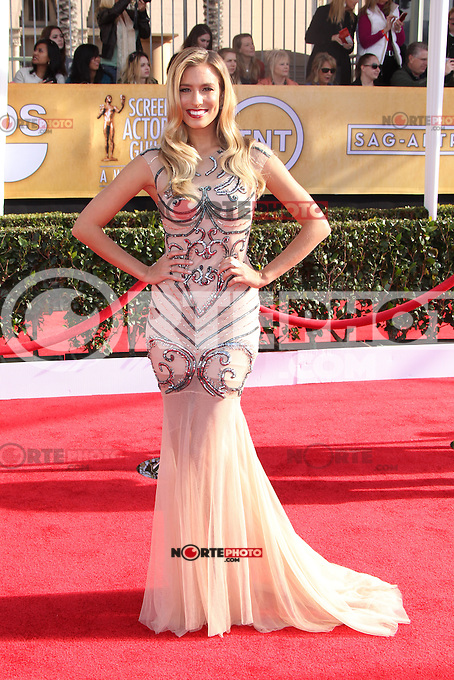 LOS ANGELES, CA - JANUARY 27: Renee Bargh at The 19th Annual Screen Actors Guild Awards at the Los Angeles Shrine Exposition Center in Los Angeles, California. January 27, 2013. Credit: MediaPunch Inc. /NortePhoto /NortePhoto