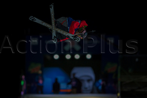 27.02.2016. Toyen, Big Jump Oslo, Norway.  Red Bull X Games Oslo 2016. Men's Ski Big Air Final. Kai Mahler of Switzerland in action during the Men's Ski Big Air Final at the Red Bull X Games Oslo 2016 in Toyen Big Jump  Oslo, Norway.