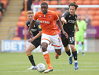 Blackpool's Donervon Daniels and Bradford City's Jack Payne<br /> <br /> Photographer Rachel Holborn/CameraSport<br /> <br /> The EFL Sky Bet League One - Blackpool v Bradford City - Saturday September 8th 2018 - Bloomfield Road - Blackpool<br /> <br /> World Copyright &copy; 2018 CameraSport. All rights reserved. 43 Linden Ave. Countesthorpe. Leicester. England. LE8 5PG - Tel: +44 (0) 116 277 4147 - admin@camerasport.com - www.camerasport.com