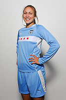 Nikki Krzysik of the Chicago Red Stars during the unveiling of the Women's Professional Soccer uniforms at the Event Place in Manhattan, NY, on February 24, 2009. Photo by Howard C. Smith/isiphotos.com