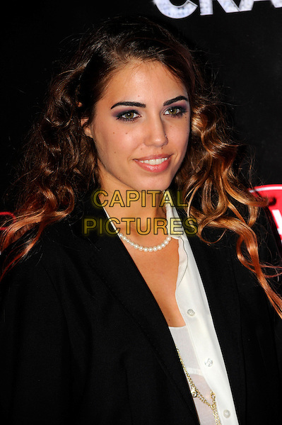 Amber Le Bon.Forever Crazy by Crazy Horse VIP Gala Night at South Bank, London, England..September 19th 2012.headshot portrait black blazer white pearl necklace .CAP/CJ.©Chris Joseph/Capital Pictures.