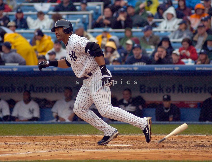 Gary Sheffield during the New York Yankees v.Toronto Blue Jays game on April 29, 2005.....Yankees lost 0-2.....Chris Bernacchi  / SportPics....