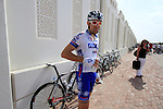 FDJ-Bigmat team rider before the start of the 1st Stage of the 2012 Tour of Qatar running from Umm Slal Mohammed to Doha Golf Club, Doha, Qatar, 5th February 2012 (Photo Eoin Clarke/Newsfile)