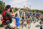 The start of Stage 10 of the La Vuelta 2018, running 177km from Salamanca to Fermoselle. Bermillo de Sayago, Spain. 4th September 2018.<br /> Picture: Unipublic/Photogomezsport | Cyclefile<br /> <br /> <br /> All photos usage must carry mandatory copyright credit (&copy; Cyclefile | Unipublic/Photogomezsport)