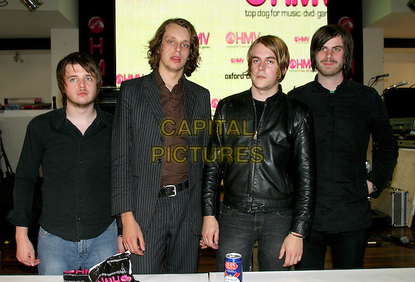 THE  22-20s .Perform live and sign copies of their new album at HMV, London, 21st September 2004..half length .Ref: BR.www.capitalpictures.com.sales@capitalpictures.com.©Capital Pictures.