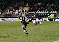 Jeroen Tesselaar in the St Mirren v Hibernian Clydesdale Bank Scottish Premier League match played at St Mirren Park, Paisley on 29.4.12.