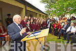 President Michael D Higgins pictured during a visit to  the Tralee International Resource Centre on Wednesday,
