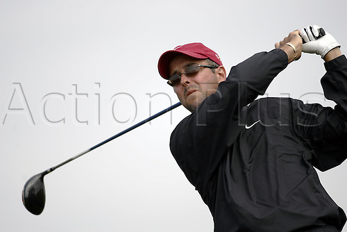 15 July 2004: American golfer Spike McRoy (USA) drives from the 15th tee during the first round of The Open Championship played at Royal Troon, Scotland. Photo: Glyn Kirk/Action Plus...golf drive driver driving wood 040715.British