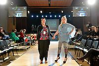 Se&ntilde;orita AweSumo by Fi Saurus, New Zealand Eco Fashion Exposed Buyers &amp; Media Showcase at Notre Dame Performing Arts Centre, Lower Hutt, New Zealand on Thursday 24 July 2014. <br /> Photo by Masanori Udagawa. <br /> www.photowellington.photoshelter.com.