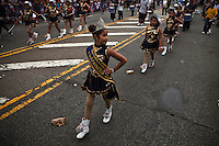 A Dominican girl takes part during the Bronx Dominican parade in New York July 28, 2013 by Kena Betancur / VIEWpress