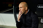 Zinedine Zidane coach of Real Madrid during La Liga match between Real Madrid and Sevilla FC at Santiago Bernabeu Stadium in Madrid, Spain. January 18, 2020. (ALTERPHOTOS/A. Perez Meca)