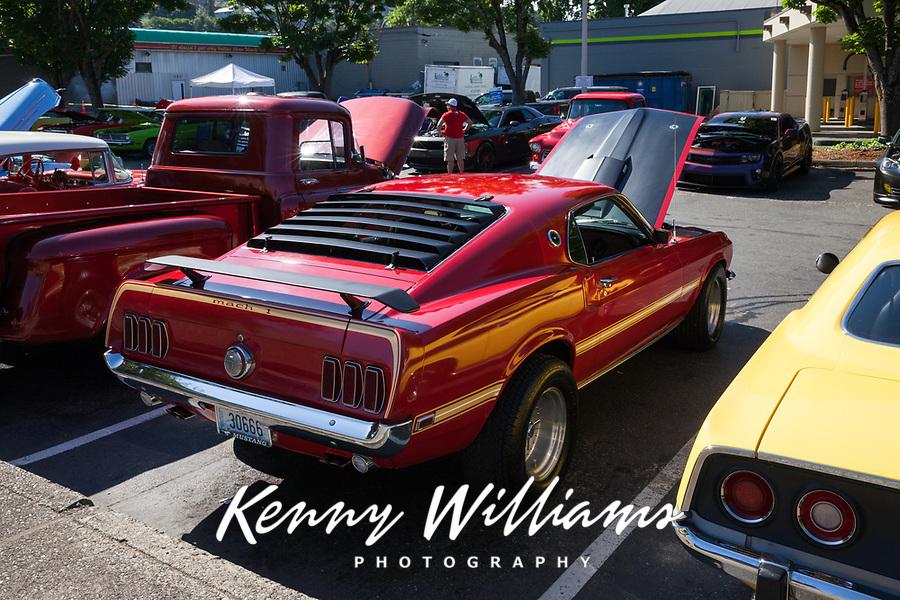 Red Ford Mustang, Return to Renton Auto Show 2017, Washington, USA.