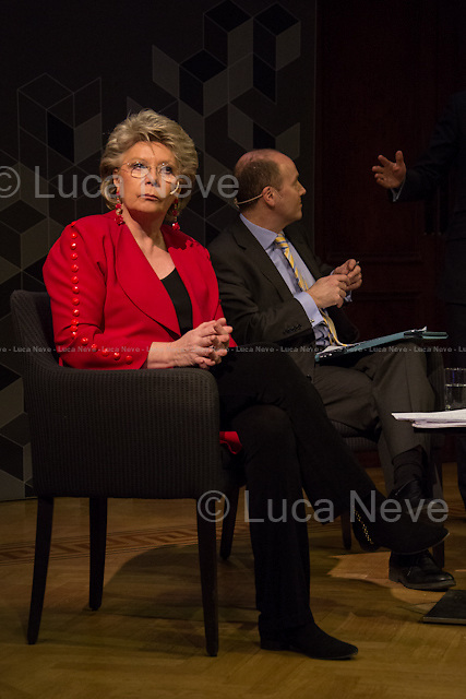 (From L to R) Viviane Reding and <br />