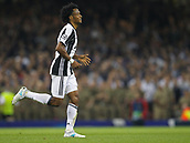 June 3rd 2017, National Stadium of Wales , Wales; UEFA Champions League Final, Juventus FC versus Real Madrid; Substitute Juan Cuadrado of Juventus runs off the field after he received a Red card from Referee Felix Brych during the match