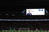 5th October 2017, Wembley Stadium, London, England; FIFA World Cup Qualification, England versus Slovenia; Goalkeeper Joe Hart of England is announced as man of the match