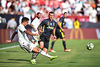 Landover, MD - August 4, 2018: Real Madrid midfielder Franchu Feuillassier (29) in action during the match between Juventus and Real Madrid at FedEx Field in Landover, MD.   (Photo by Phillip Peters/Media Images International)