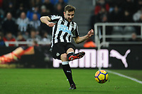 Paul Dummett of Newcastle United during Newcastle United vs Swansea City, Premier League Football at St. James' Park on 13th January 2018