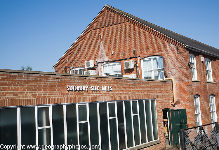 Stephen Walters and Sons Limited silk works factory, Sudbury, Suffolk, England
