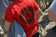 April 26, 2013  (Baltimore, Maryland)  A volunteer wear an Americorps shirt during a national day of service event in Baltimore, MD.  (Photo by Don Baxter/Media Images International)