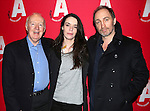 Jim Norton, Caoilfhionn Dunne and Michael McElhatton  attending the Opening Night after party for the Atlantic Theater Company's 'The Night Alive' at IL Bastardo on December 12, 2013 in New York City.