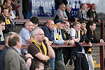 Supporters of Alloa Athletc football club watching their team at Ochilview stadium, Larbert, during their Irn Bru Scottish League second division match against Stenhousemuir. Alloa won the match by one goal to nil against their local rivals in a match watched by 619 spectators.