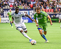 Vancouver, British Columbia - September 19, 2015: Seattle Sounders FC win the Cascadia Cup, defeating the Vancouver Whitecaps 3-0 in MLS action at BC Place.