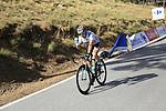 Austrian National Champion Lukas Postlberger (AUT) Bora-Hansgrohe descends Sierra de la Alfaguara after Stage 4 of the La Vuelta 2018, running 162km from Velez-Malaga to Alfacar, Sierra de la Alfaguara, Andalucia, Spain. 28th August 2018.<br /> Picture: Eoin Clarke   Cyclefile<br /> <br /> <br /> All photos usage must carry mandatory copyright credit (&copy; Cyclefile   Eoin Clarke)