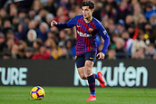 2nd February 2019, Camp Nou, Barcelona, Spain; La Liga football, Barcelona versus Valencia; Philippe Coutinho of FC Barcelona passes the ball through midfield