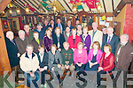 Double Celebration: Johnny & Annie Bambury (seated Centre), Ballydonoghue,  celebtating their 90th & 80th birthdays at the Thatch Bar , Liselton on Friday night last. The party was arranged by the Coolard Branch, Ballylongford disrtict cuman of Fine Gael and presentations were made to the happy couple by Jimmy Deenihan, TD in  recognition of their long service to the Fine Gaekl Party in their area.